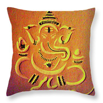 Ganesha Pietyz Throw Pillow