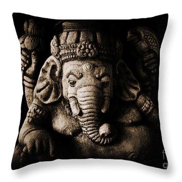 Ganesha The Elephant God Throw Pillow