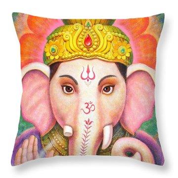 Ganesha's Blessing Throw Pillow