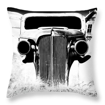 Gangster Car Throw Pillow by Cat Connor
