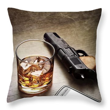 Gangster Gear Throw Pillow by Carlos Caetano