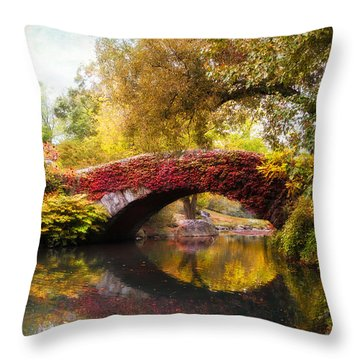 Throw Pillow featuring the photograph Gapstow Bridge  by Jessica Jenney