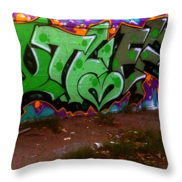 Garage Art Throw Pillow