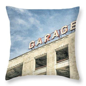 Garage Throw Pillow by Scott Norris