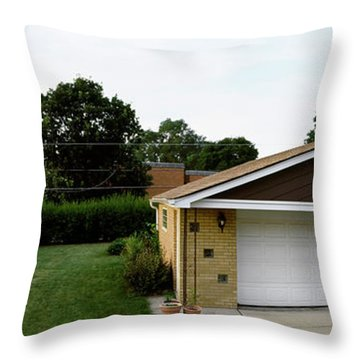 Garage With Hybrid Car, Stelle, Rogers Throw Pillow