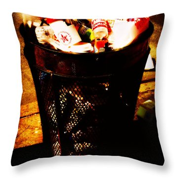 Garbage One Throw Pillow