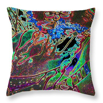 In And Out Of The Garden Stained Glass Throw Pillow