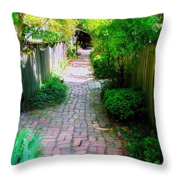 Garden Alley Throw Pillow by Brian Wallace