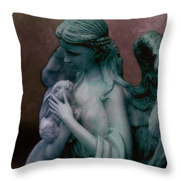 Forest Angel 3 Throw Pillow