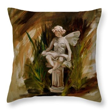 Garden Angel One Throw Pillow by Lindsay Frost