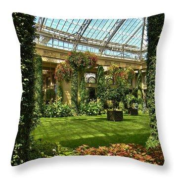 Garden Atrium In Shadow Throw Pillow by Jean Goodwin Brooks