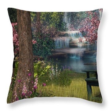 Garden Background Throw Pillow