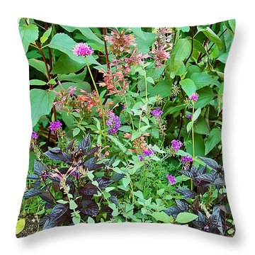 Garden Bouquet Throw Pillow by Aimee L Maher Photography and Art Visit ALMGallerydotcom