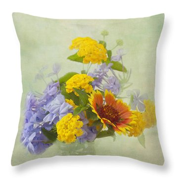 Garden Bouquet Throw Pillow by Kim Hojnacki