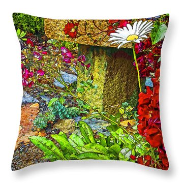 Garden Bouquet Throw Pillow