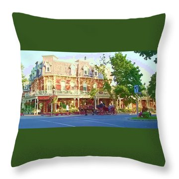 Garden City Throw Pillow by Barbara McDevitt