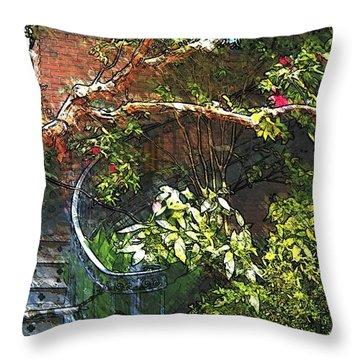 Garden Climb  Throw Pillow