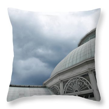 Throw Pillow featuring the photograph Garden Conservatory by David Klaboe