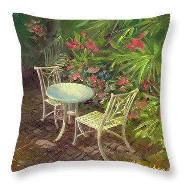 Garden Conversation Throw Pillow