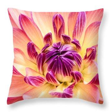 Garden Dahlia Throw Pillow