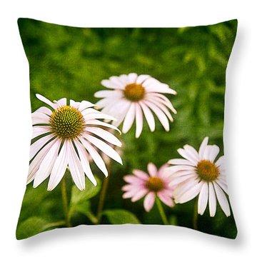 Garden Dasies Throw Pillow