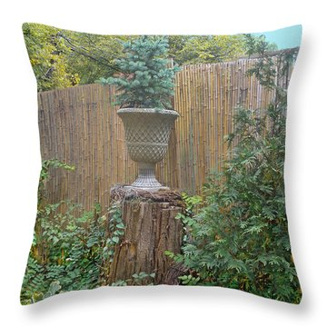 Garden Decor 2 Throw Pillow by Muriel Levison Goodwin