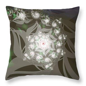 Throw Pillow featuring the digital art Garden Echos by Elizabeth McTaggart