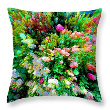 Garden Explosion Throw Pillow by Alys Caviness-Gober