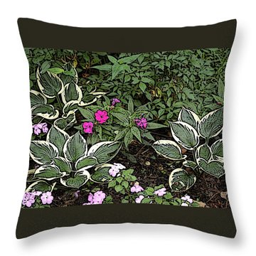 Throw Pillow featuring the photograph Garden Flowers by Donald Williams