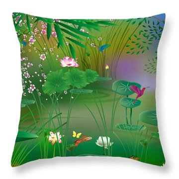 Garden - Limited Edition 1 Of 20 Throw Pillow