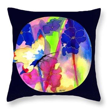 Garden Gate Mandala Throw Pillow