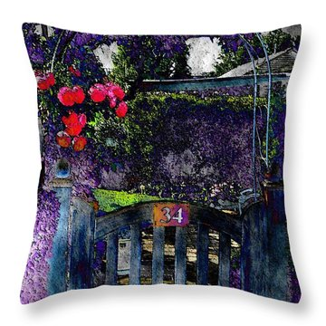 Garden-gate Throw Pillow