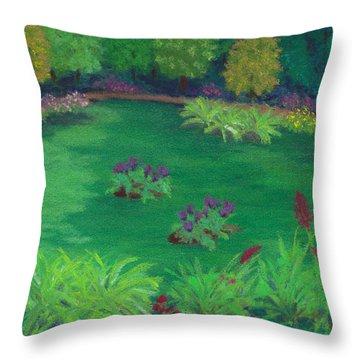 Garden In The Woods Throw Pillow