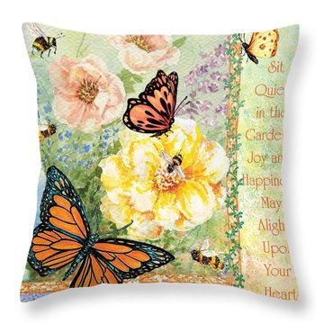 Garden Joy Throw Pillow