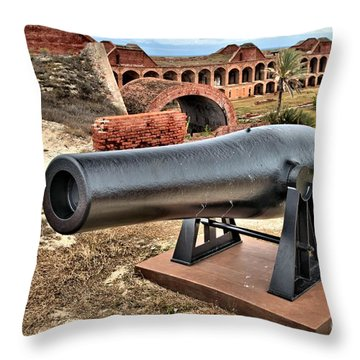 Garden Key Defense Throw Pillow by Adam Jewell