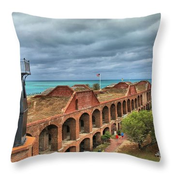 Garden Key Light Throw Pillow by Adam Jewell