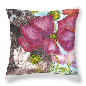 Garden Nap Throw Pillow