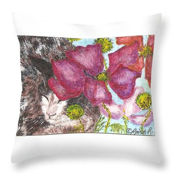 Garden Nap Throw Pillow