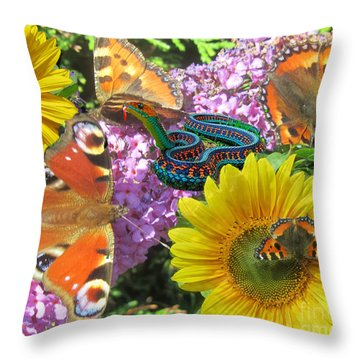Garden Of Dreams Throw Pillow