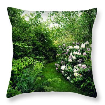 Throw Pillow featuring the photograph Garden Of Enchantment by Patricia Strand
