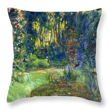 Garden Of Giverny Throw Pillow