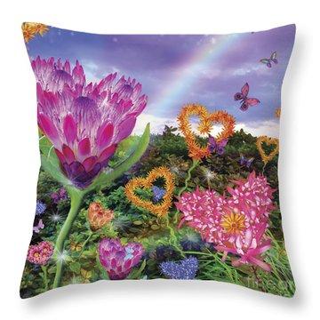 Garden Of Love 2 Throw Pillow by Alixandra Mullins