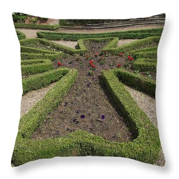 Throw Pillow featuring the photograph Garden Of Peace by Tracey Williams