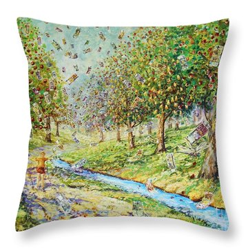 Garden Of Prosperity Throw Pillow
