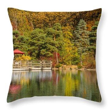 Throw Pillow featuring the photograph Garden Of Reflection by Sebastian Musial