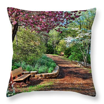 Garden Of Serenity Throw Pillow by Kenny Francis