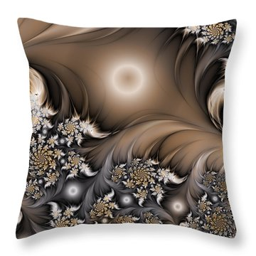 Throw Pillow featuring the digital art Garden Of The Future by Gabiw Art