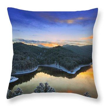 Throw Pillow featuring the photograph Garden Of The Gods by Kadek Susanto