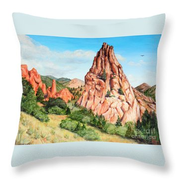 Kindergarten Rock - Garden Of The Gods Throw Pillow