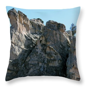 Garden Of The Gods Boulders Throw Pillow